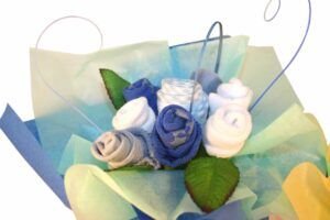 Baby Boy Posy Clothes Bouquet