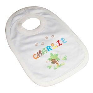Personalised Animal Alphabet Bib