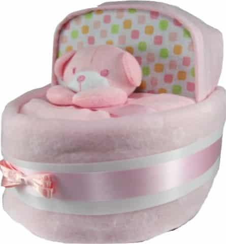Baby Girl Nappy Cake Crib Basinet