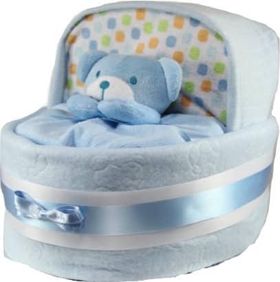 Baby Boy Nappy Cake Crib Basinet