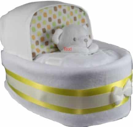 BabyUnisex Nappy Cake Crib Basinet