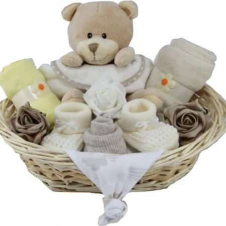 Baby Unisex Button Nose Bear Hamper