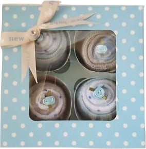 Clothing cupcake baby boy gift set