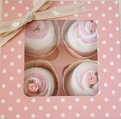 Baby girl cupcake clothing gift set