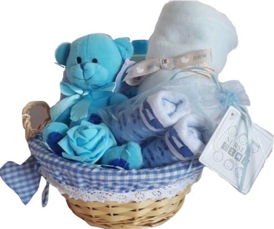 Baby Boy Rose 9 Piece Gift Hamper