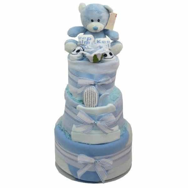 BABY BOY LUXURY 3 TIER NAPPY CAKE