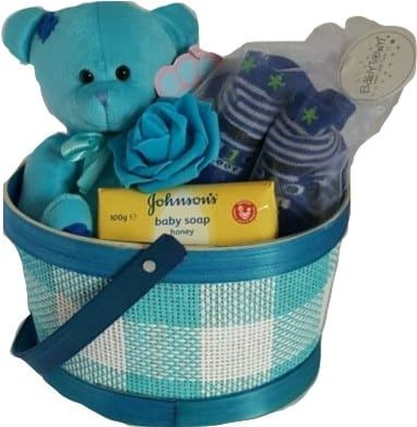 Baby Boy Patch Gift Basket