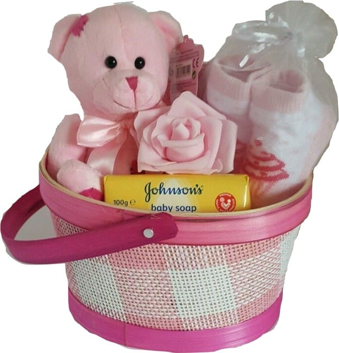 Baby Girl Patch Gift Basket