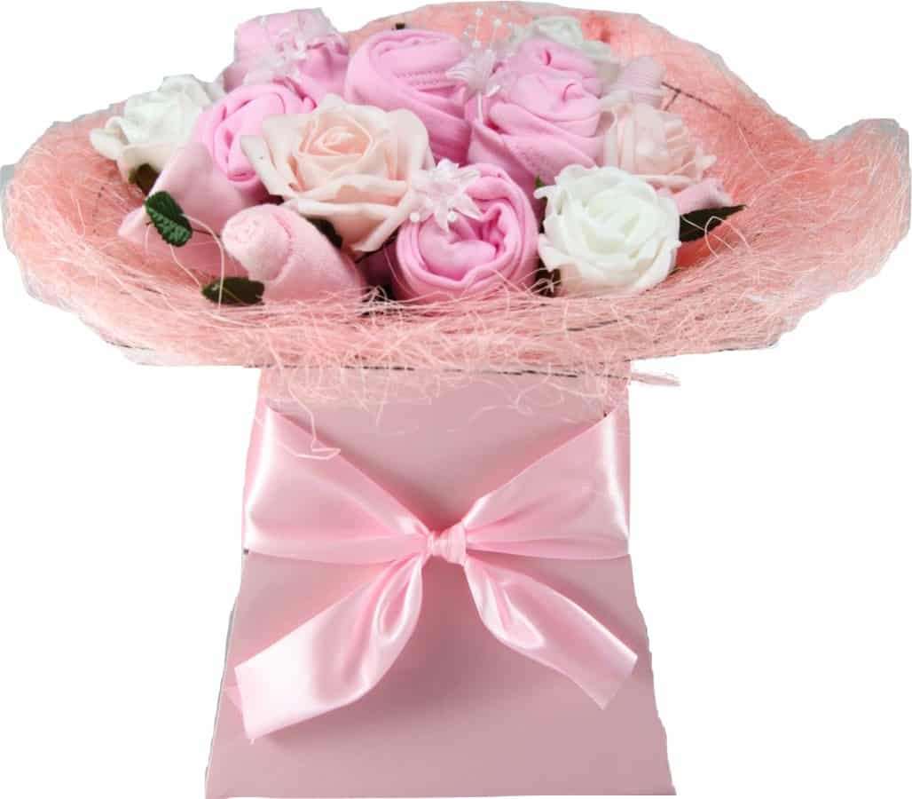 Baby Girl Ever Blossom Clothes Bouquet