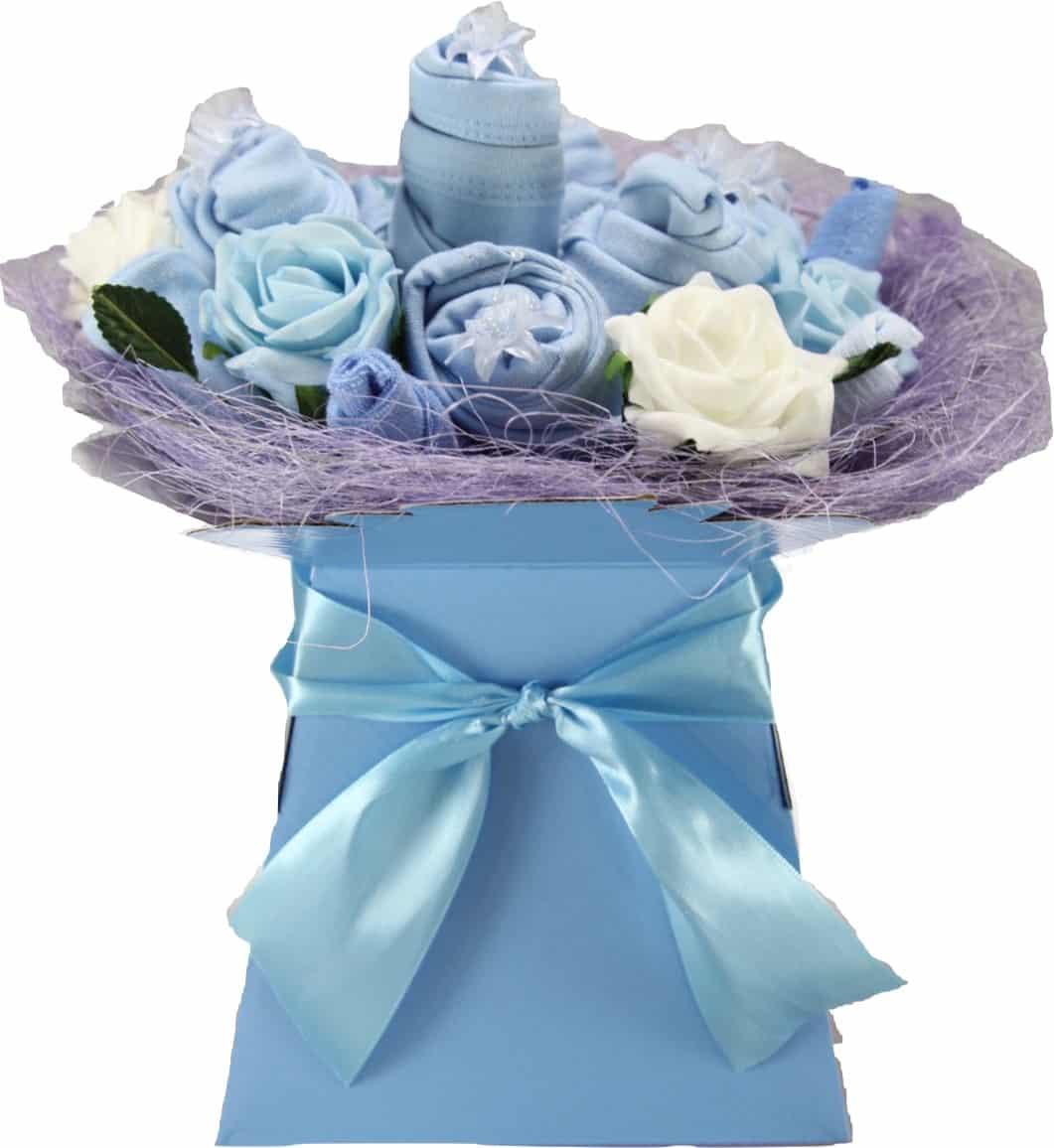 Baby Boy Ever Blossom Clothes Bouquet