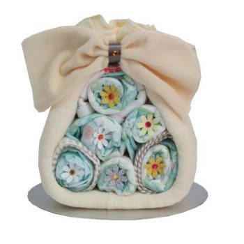 Baby Girl/Boy Stork Nappy Cake