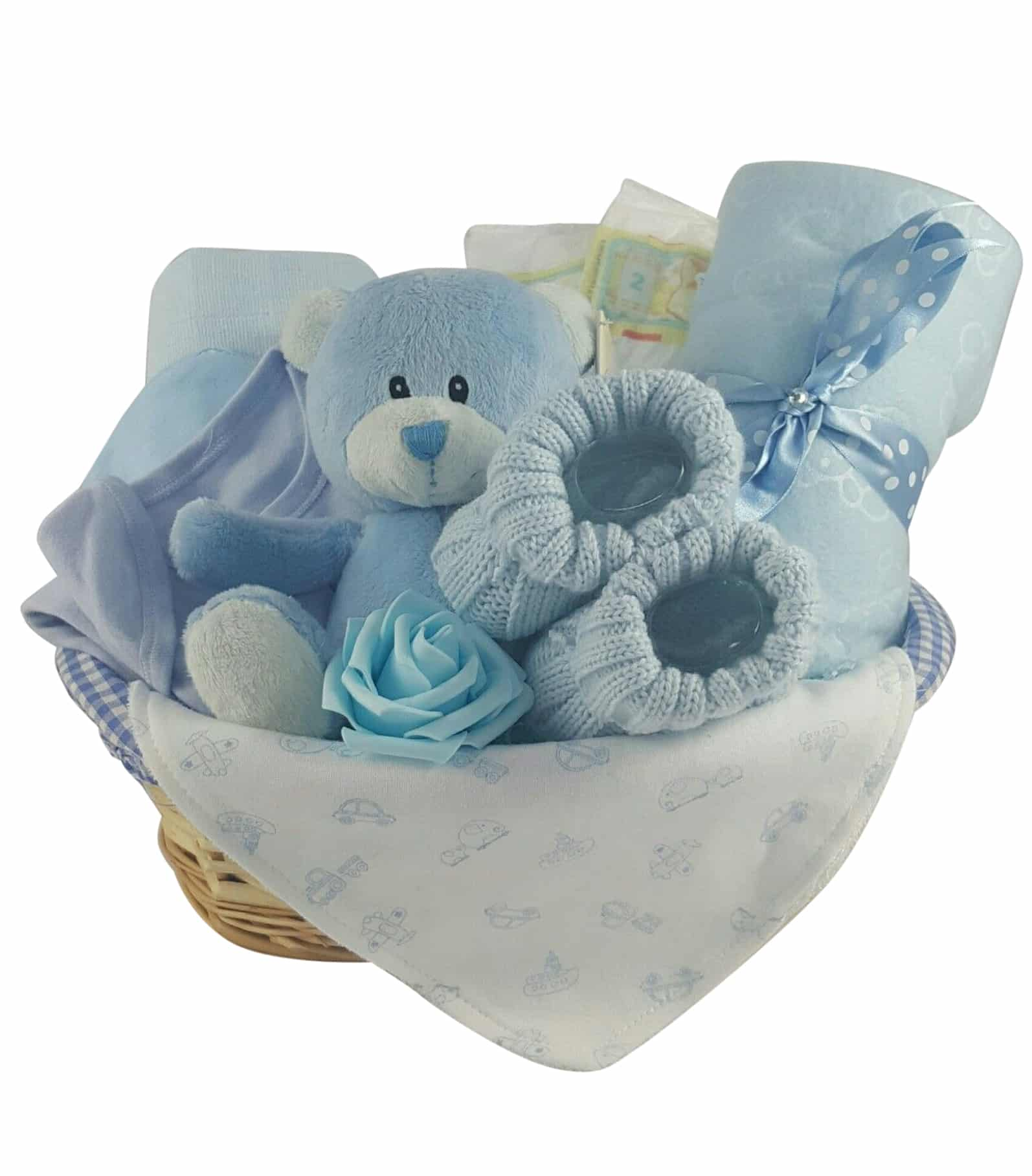 Baby Boy Gifts England : Deluxe tickles on toes baby boy piece gift basket