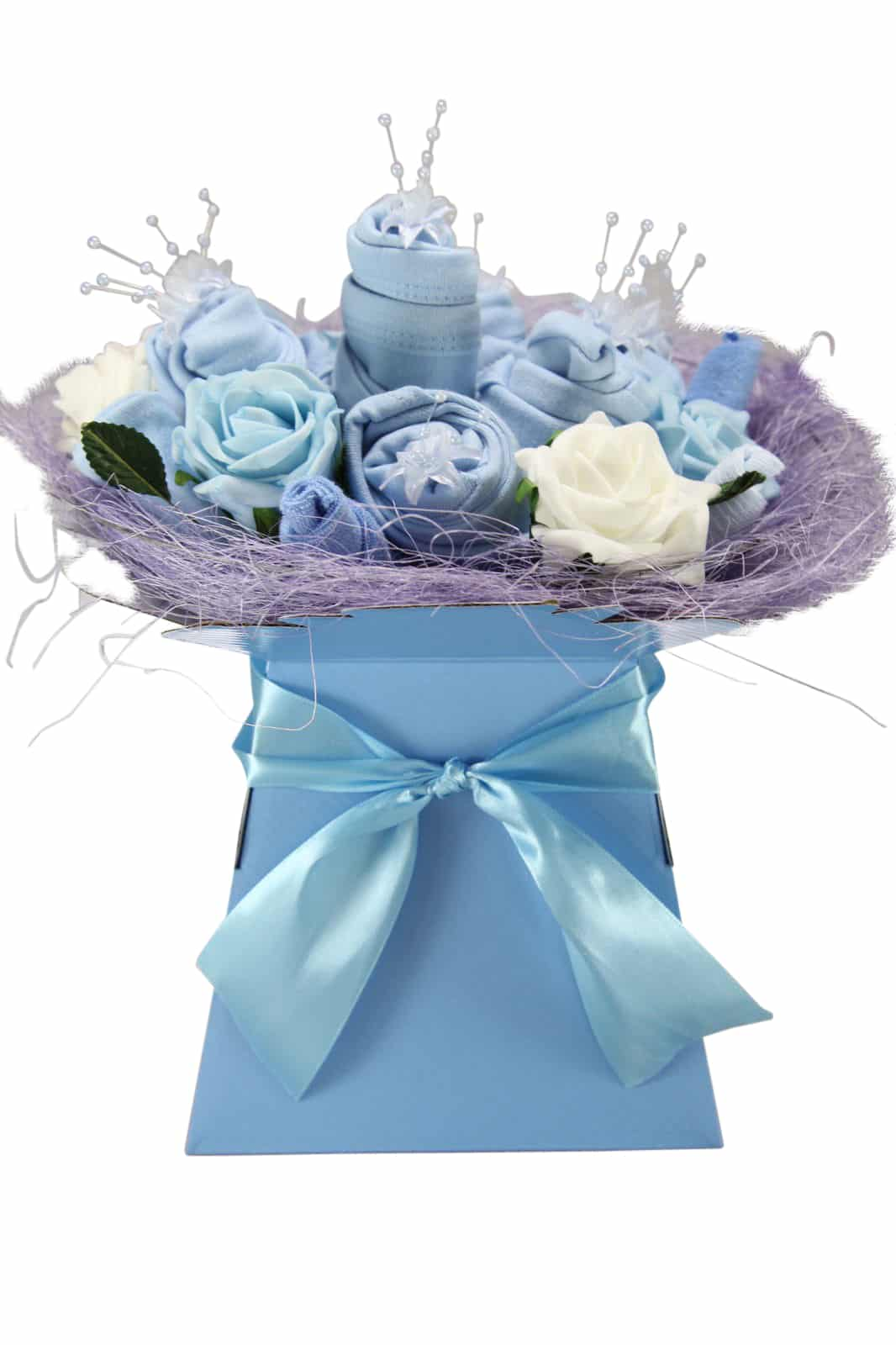 Baby Boy Ever Blossom Clothes Bouquet Baby Hamper Gift